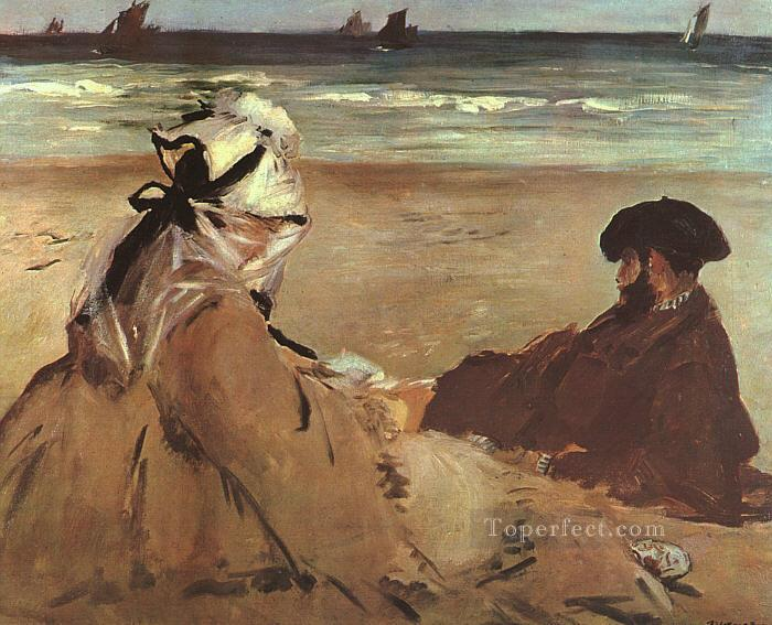 4 On The Beach Realism Impressionism Edouard Manet