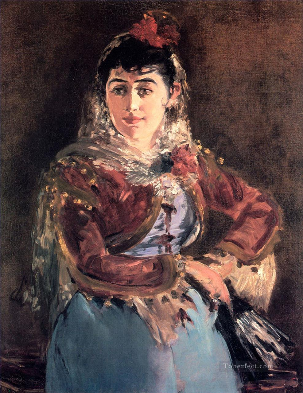 4 Portrait of Emilie Ambre in the role of Carmen Realism Impressionism Edouard Manet