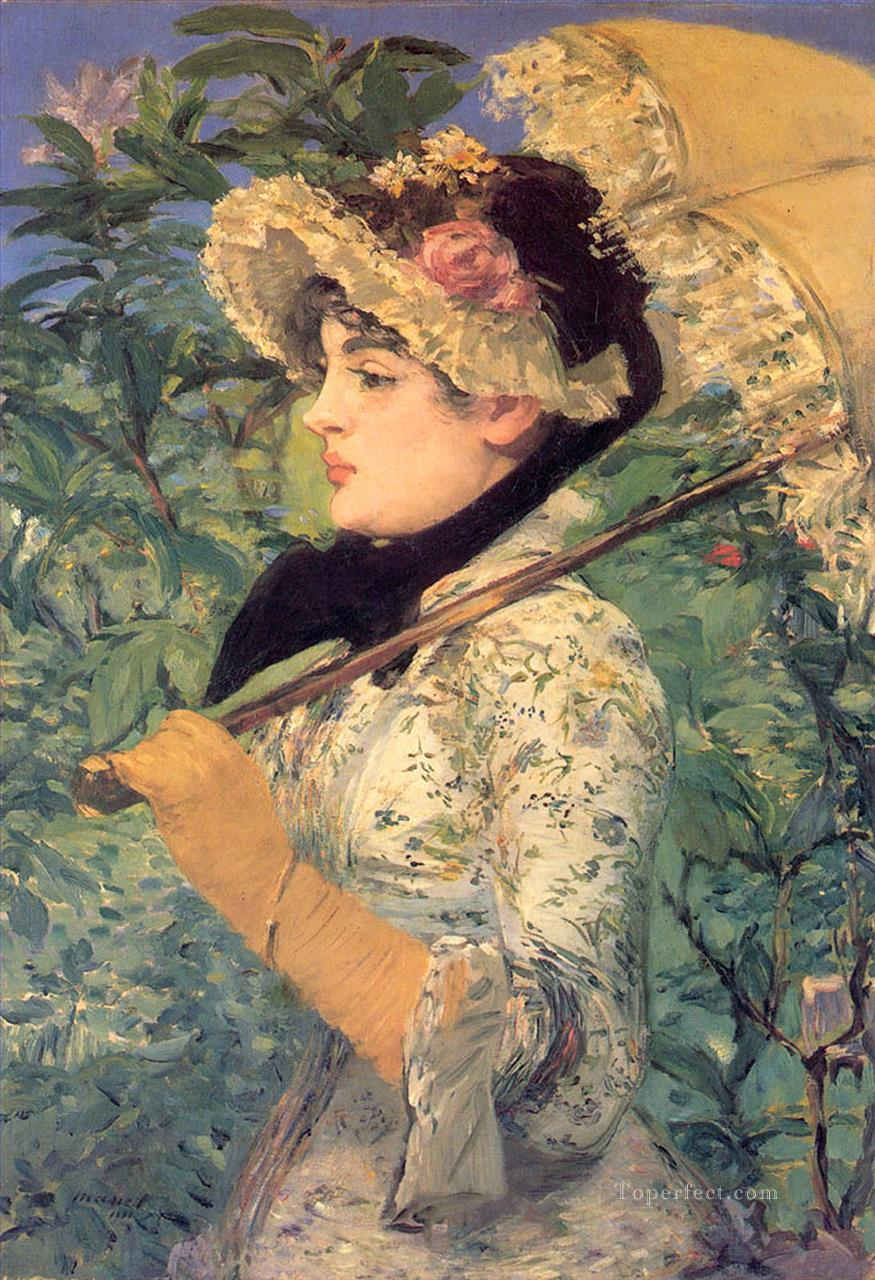 4 Spring Study of Jeanne Demarsy Realism Impressionism Edouard Manet