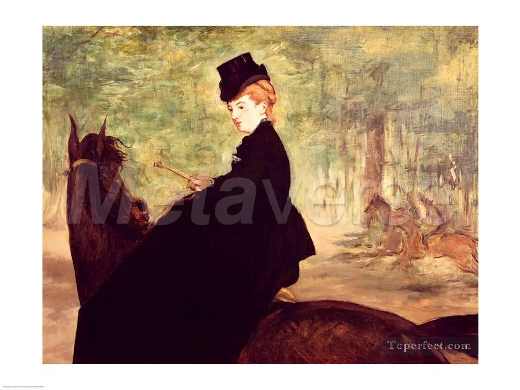 4 The Horsewoman Realism Impressionism Edouard Manet