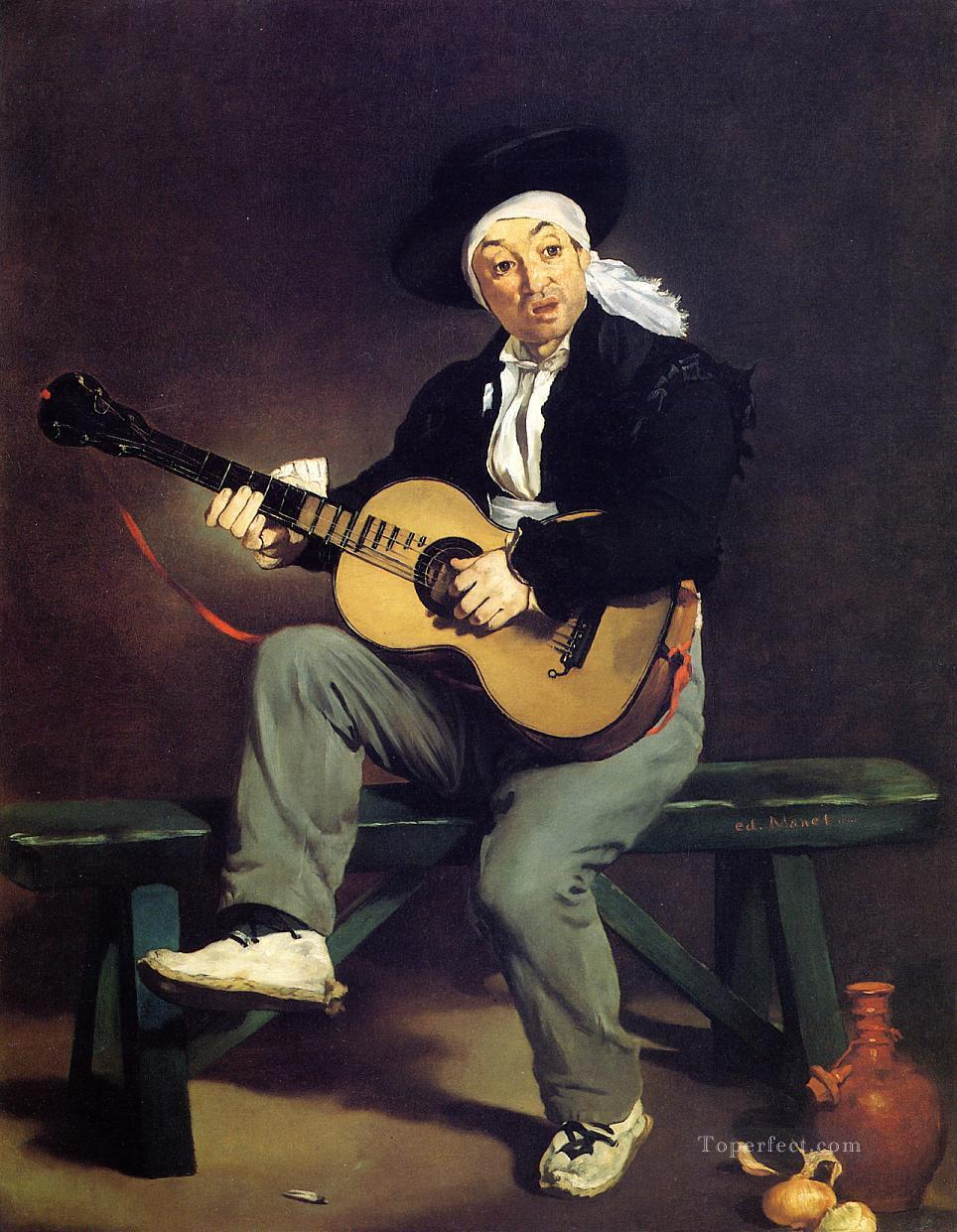 4 The Spanish Singer The Guitar Player Realism Impressionism Edouard Manet