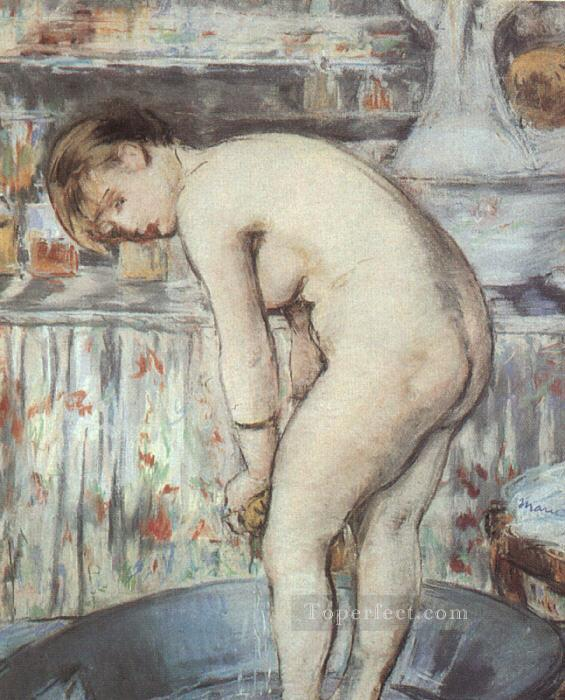 4 Woman in a Tub nude Impressionism Edouard Manet