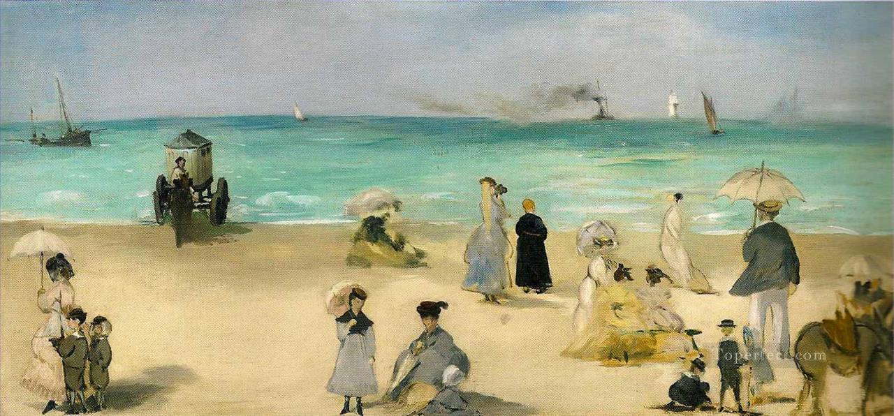 6 On the Beach at Boulogne Realism Impressionism Edouard Manet