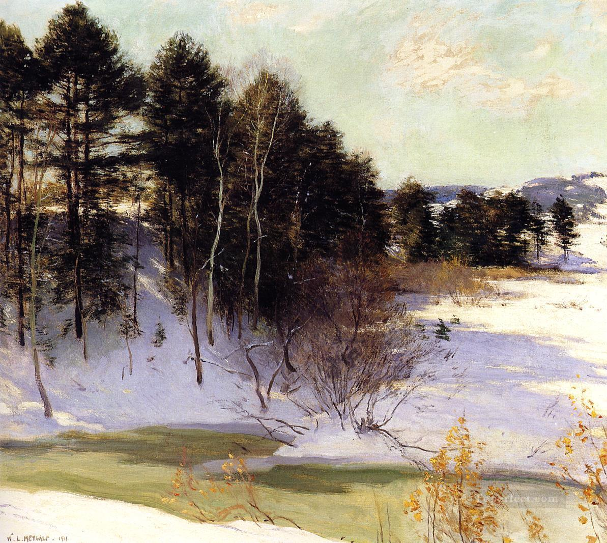 2 Thawing Brook scenery Willard Leroy Metcalf