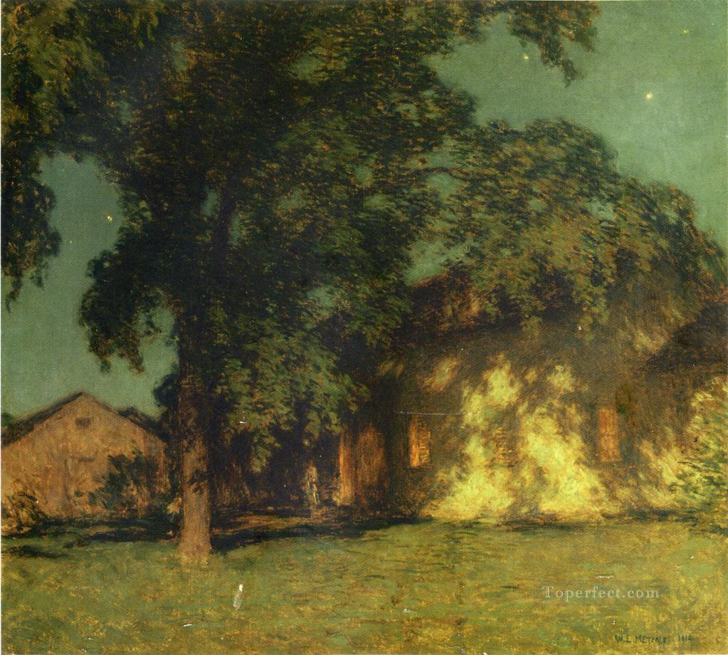 3 Summer Night No 2 scenery Willard Leroy Metcalf