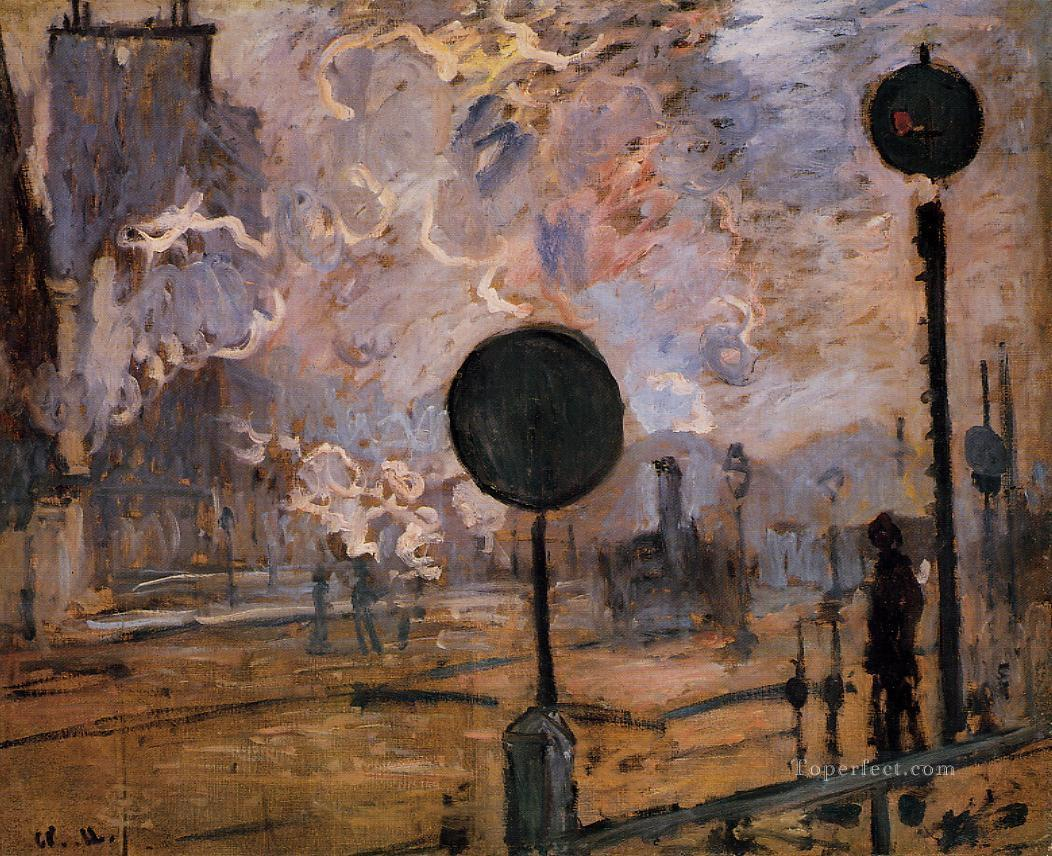 2 Exterior of Saint Lazare Station aka The Signal Claude Monet