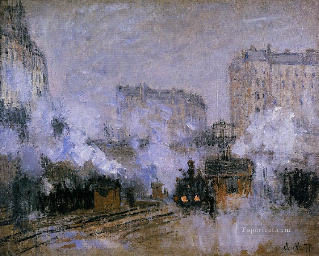 2 Exterior of the Saint Lazare Station Arrival of a Train Claude Monet