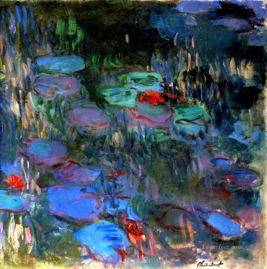 2 Water Lilies Reflections of Weeping Willows right half Claude Monet