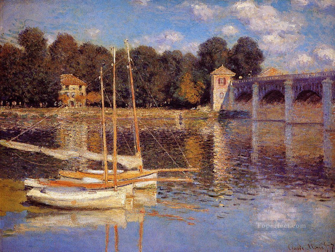 4 The Bridge at Argenteuil Claude Monet