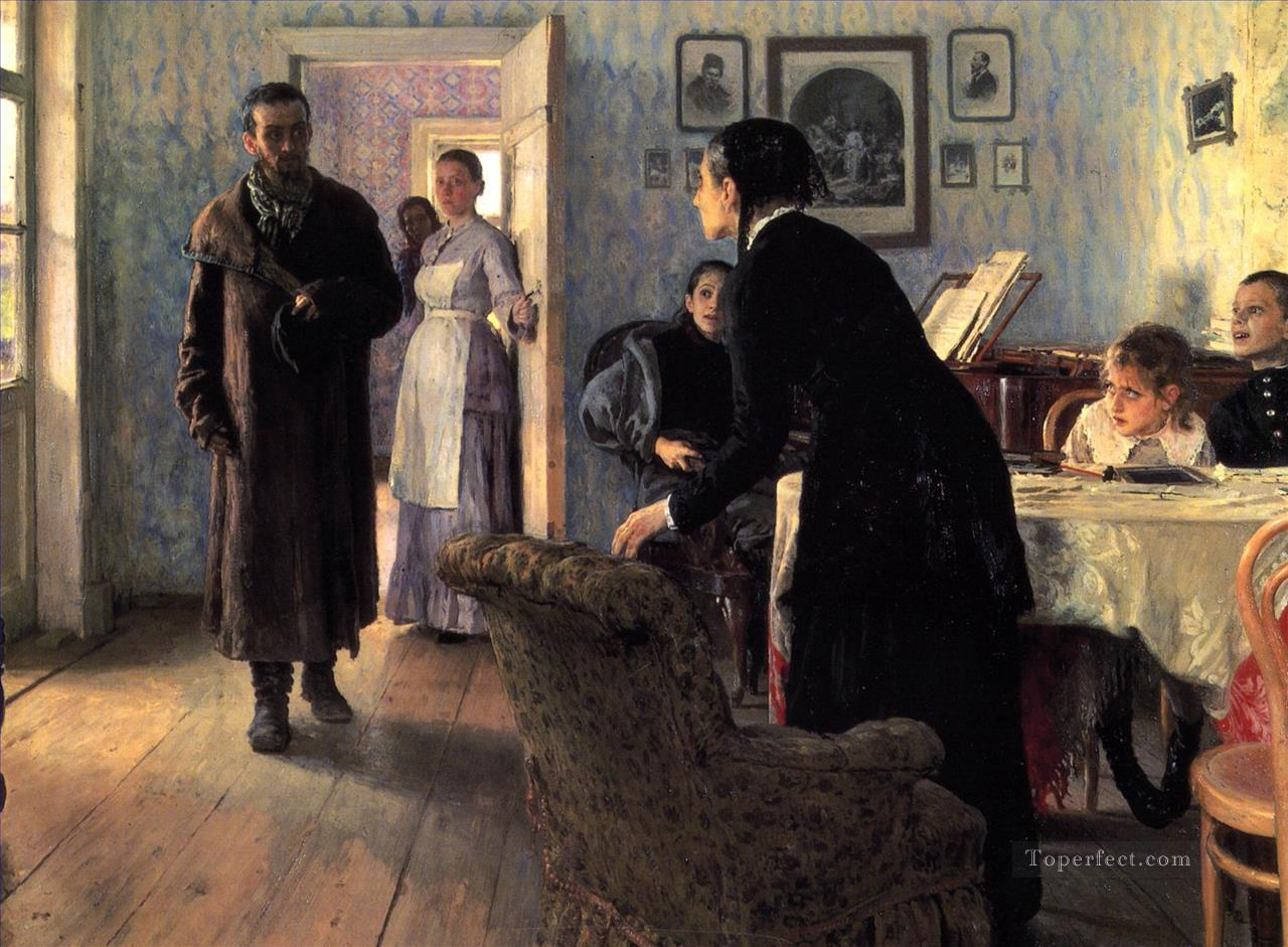 7 Unexpected visitors Russian Realism Ilya Repin