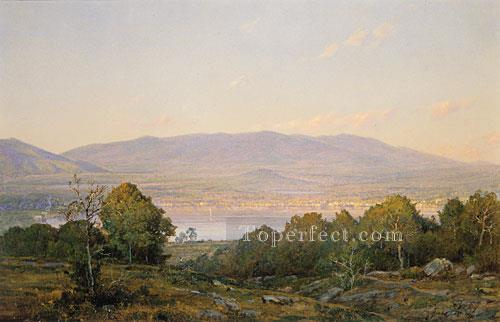 2 Sundown At Centre Harbor New Hampshire scenery William Trost Richards