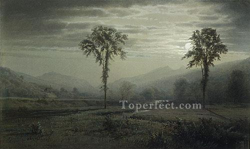 3 Moonlight On Mount Lafayette New hampshire scenery William Trost Richards
