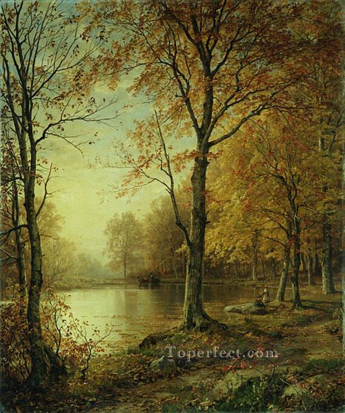 4 Indian Summer scenery William Trost Richards