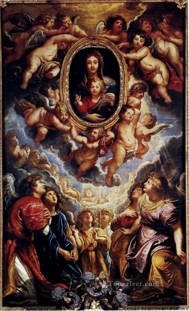 0 Virgin And Child Adored By Angels Baroque Peter Paul Rubens