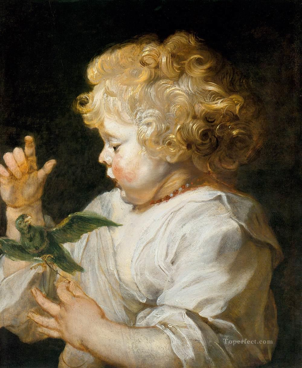 4 Boy with Bird Baroque Peter Paul Rubens