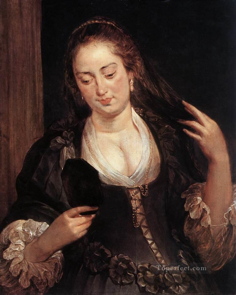 4 Woman with a Mirror Baroque Peter Paul Rubens