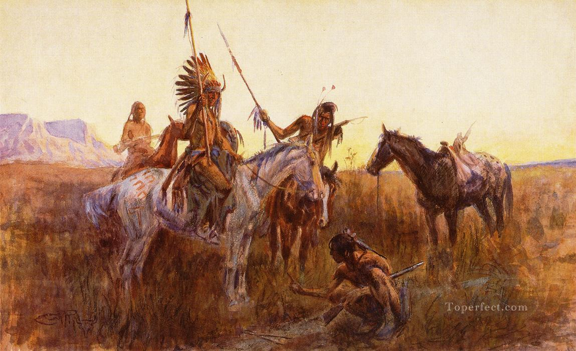 5 The Lost Trail Indians western American Charles Marion Russell
