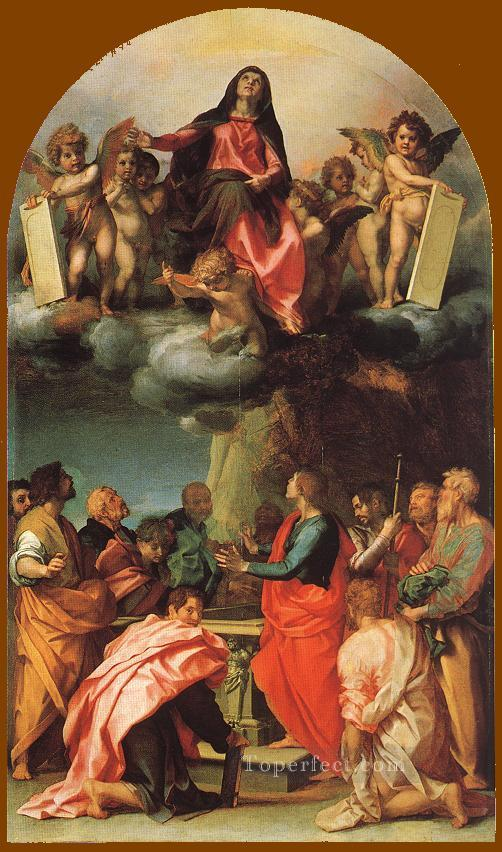 0 Assumption of the Virgin renaissance mannerism Andrea del Sarto