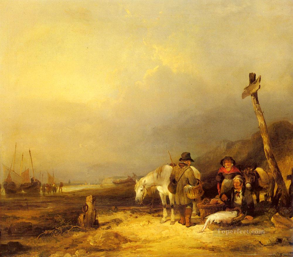 6 On The South Coast rural scenes William Shayer Snr