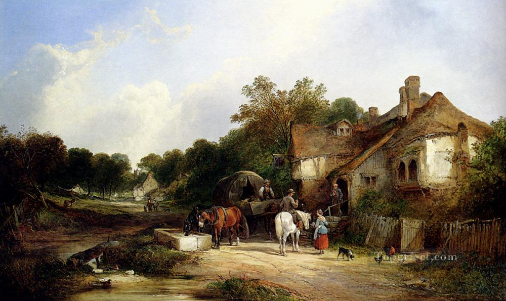 6 The Road Side Inn Somerset rural scenes William Shayer Snr