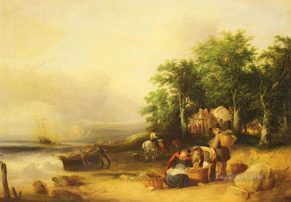 6 View On The Isle Of Wight rural scenes William Shayer Snr