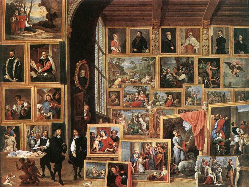0 The Gallery Of Archduke Leopold In Brussels 1640 David Teniers the Younger