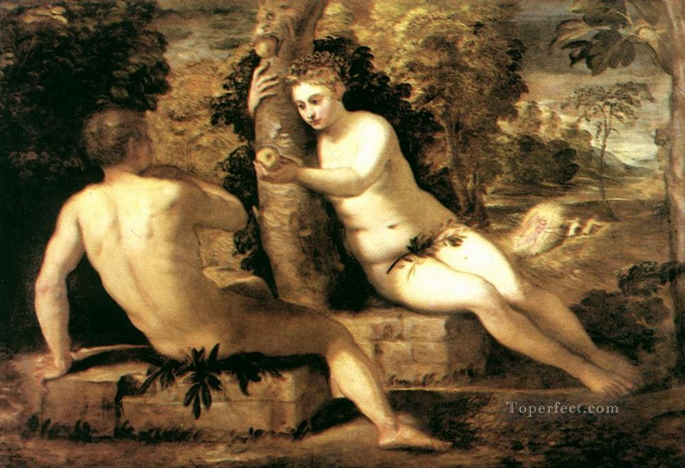 Tintoretto Adam And Eve 5 Adam And Eve Italian