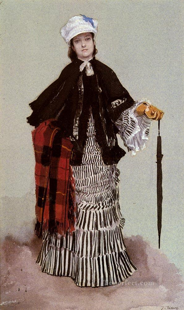 4 A Lady In A Black And White Dress James Jacques Joseph Tissot