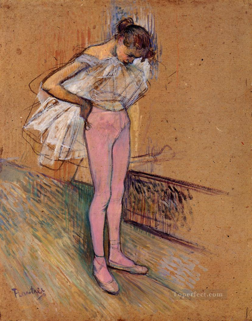 4 Dancer Adjusting Her Tights post impressionist Henri de Toulouse Lautrec