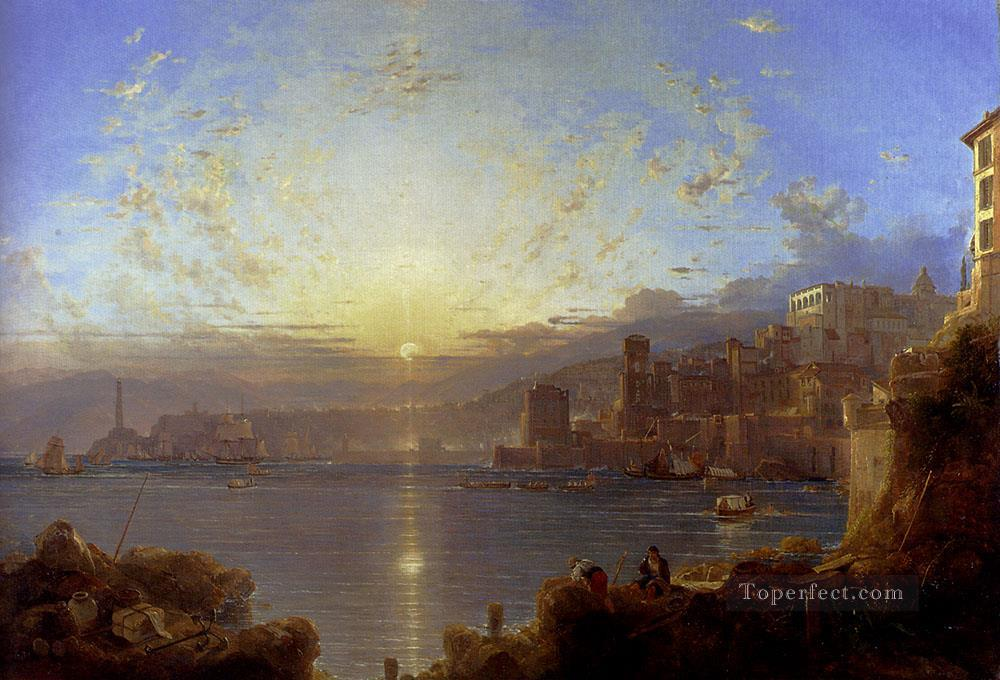 4 Genoa scenery Franz Richard Unterberger