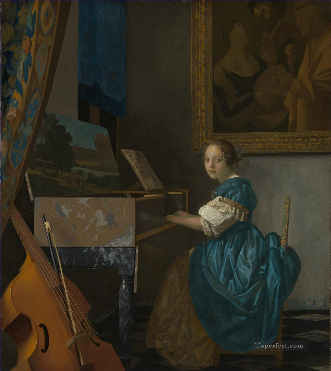 4 Lady Seated at a Virginal Baroque Johannes Vermeer
