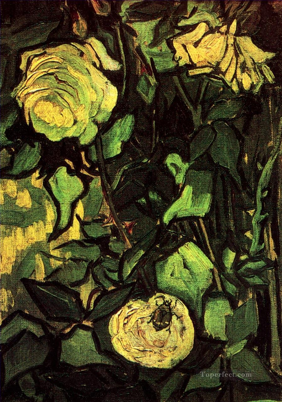 2 Roses and Beetle Vincent van Gogh