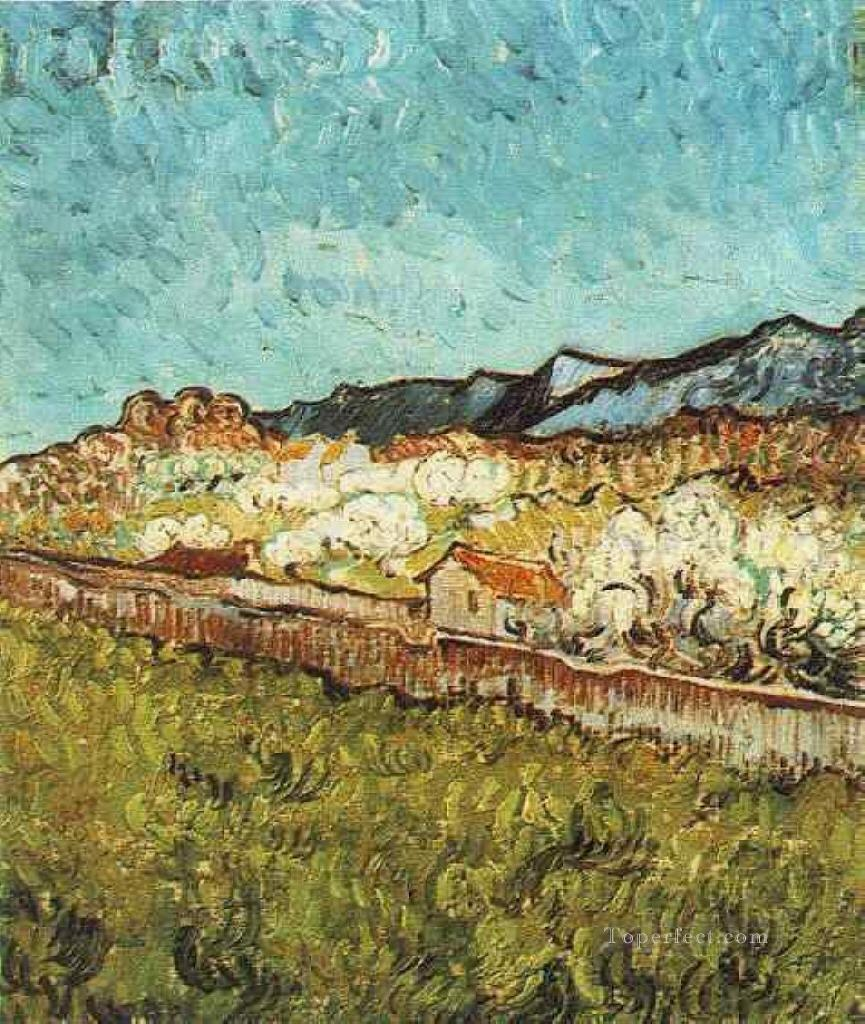 3 At the Foot of the Mountains Vincent van Gogh