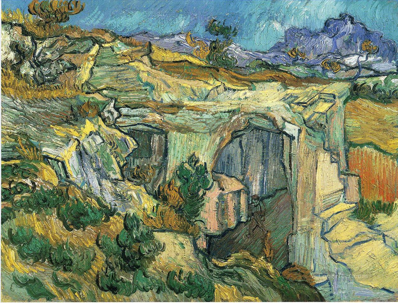 3 Entrance to a Quarry near Saint Remy Vincent van Gogh