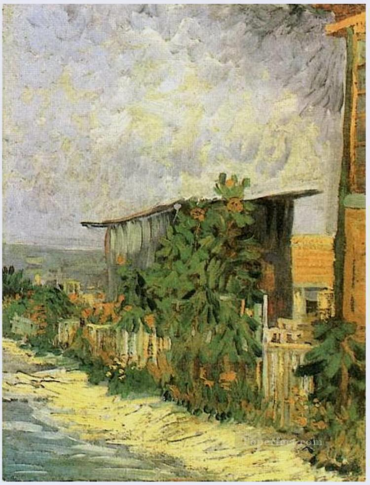 3 Montmartre Path with Sunflowers Vincent van Gogh