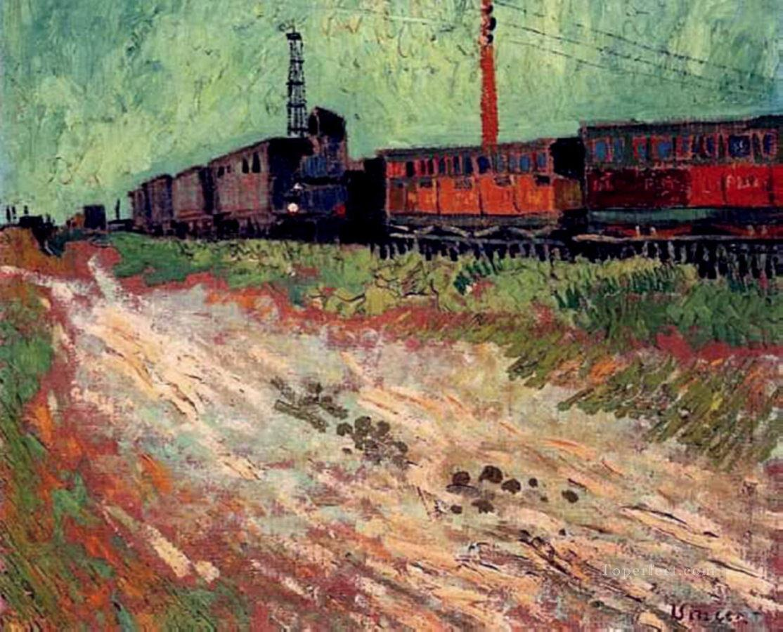 3 Railway Carriages Vincent van Gogh