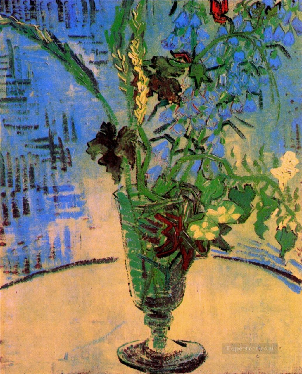 3 Still Life Glass with Wild Flowers Vincent van Gogh