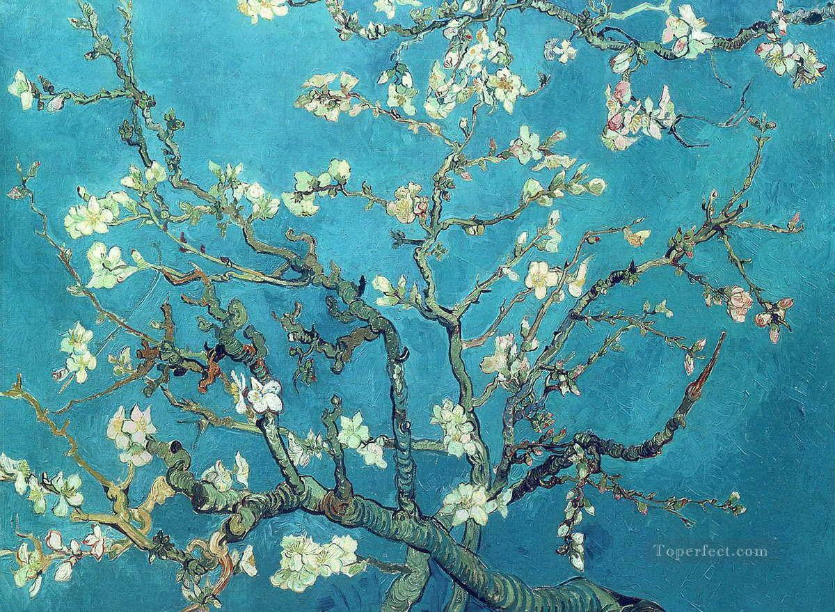 4 Branches with Almond Blossom Vincent van Gogh