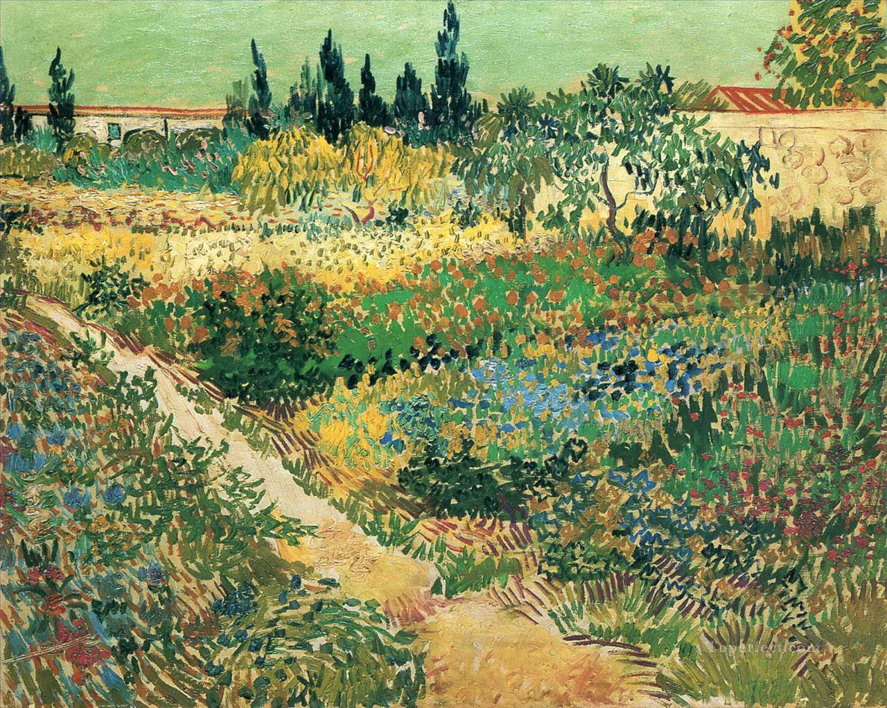 4 Garden with Flowers Vincent van Gogh