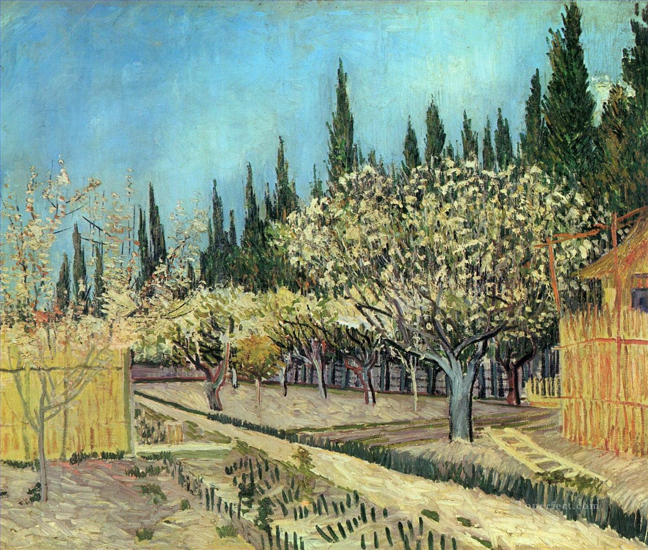 4 Orchard in Blossom Bordered by Cypresses 2 Vincent van Gogh