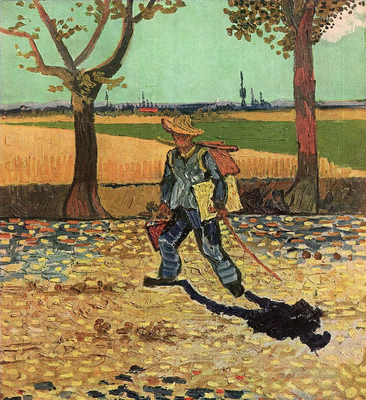 4 Selfportrait on the Road to Tarascon Vincent van Gogh