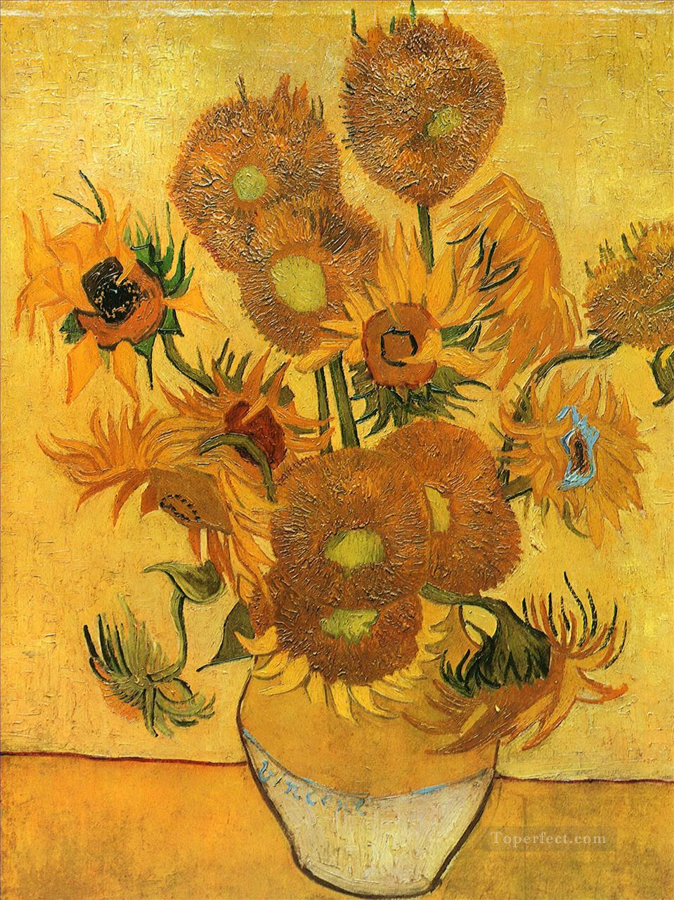 4 Still Life Vase with Fifteen Sunflowers 2 Vincent van Gogh