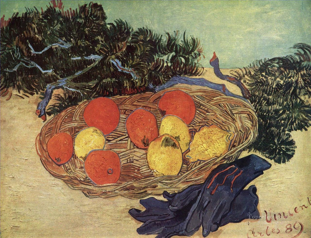 4 Still Life with Oranges and Lemons with Blue Gloves Vincent van Gogh