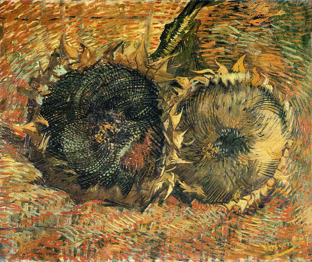 4 Still Life with Two Sunflowers 2 Vincent van Gogh