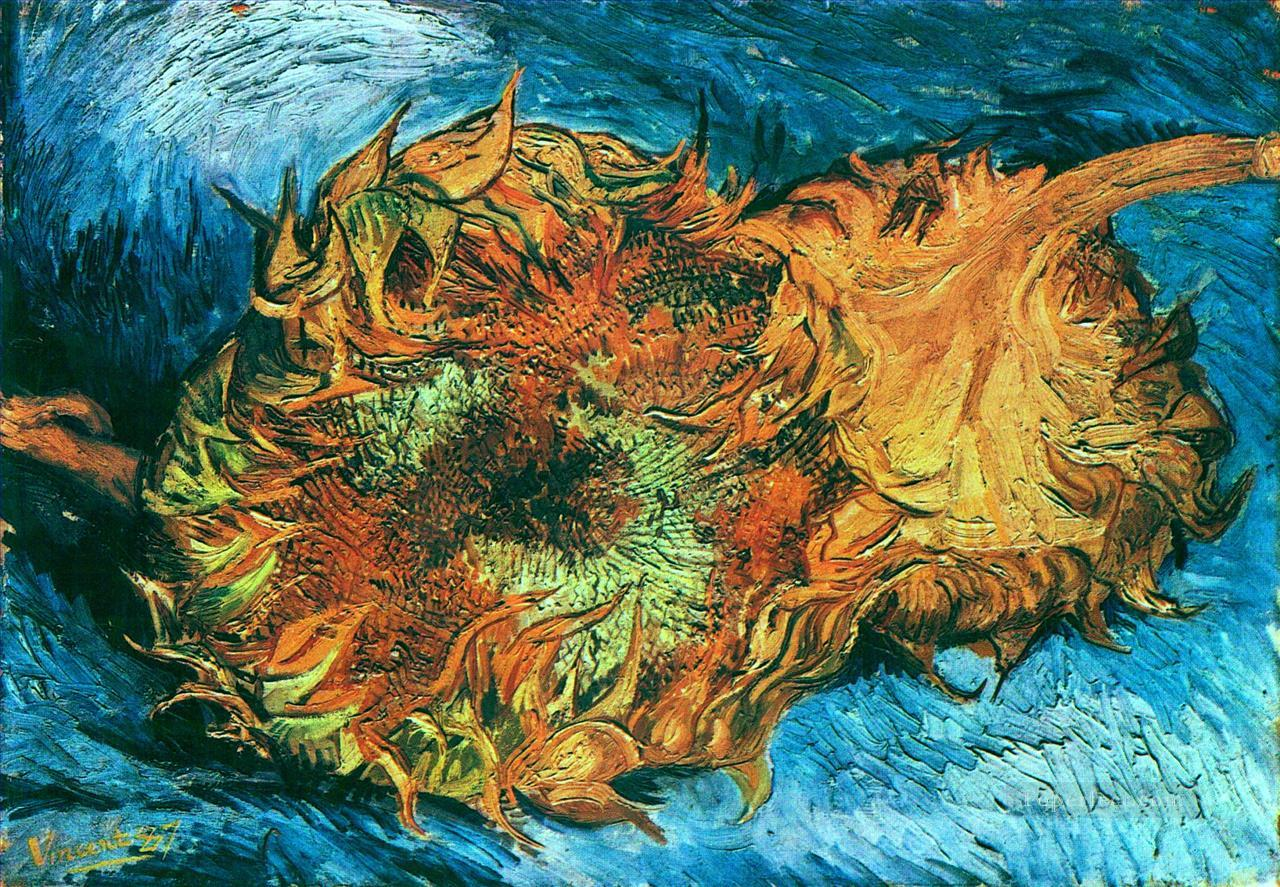 4 Still Life with Two Sunflowers Vincent van Gogh