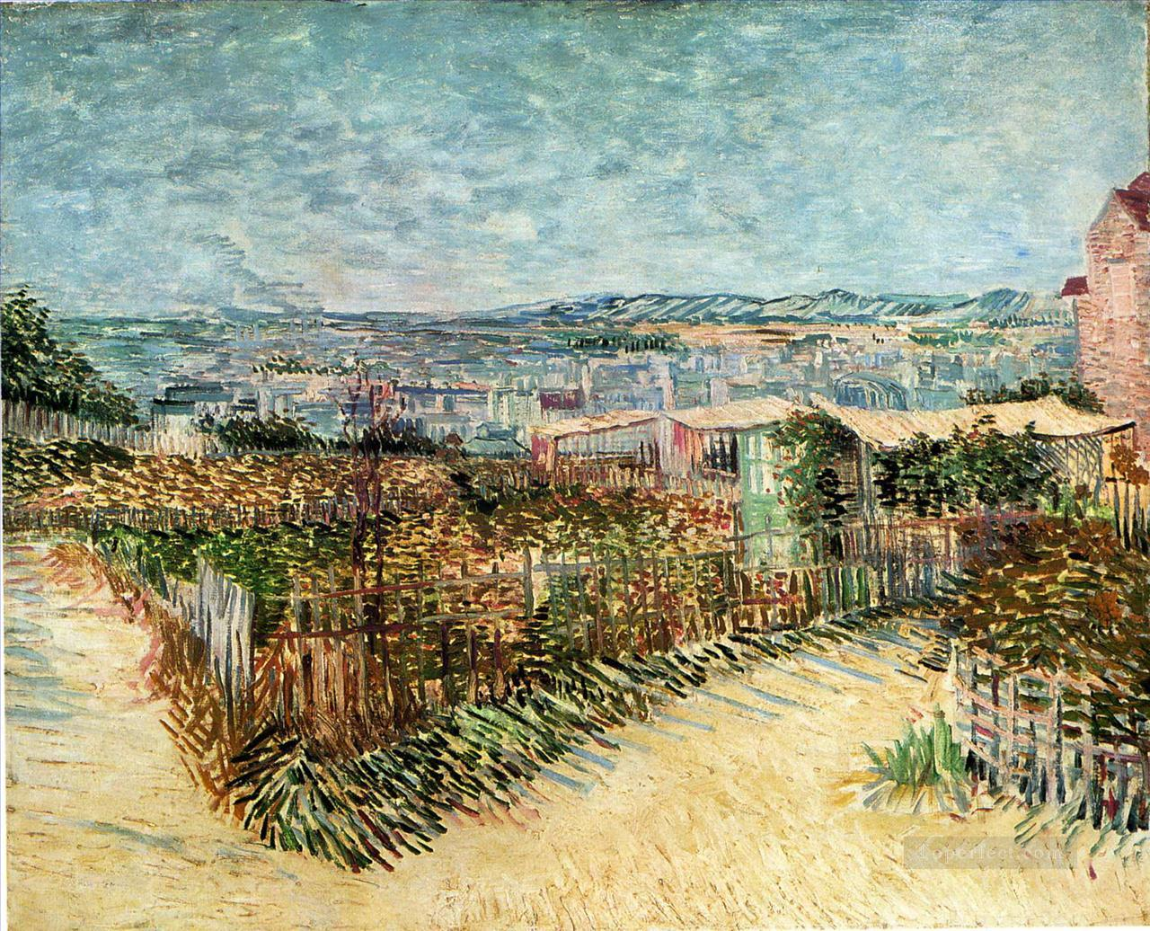 4 Vegetable Gardens in Montmartre Vincent van Gogh