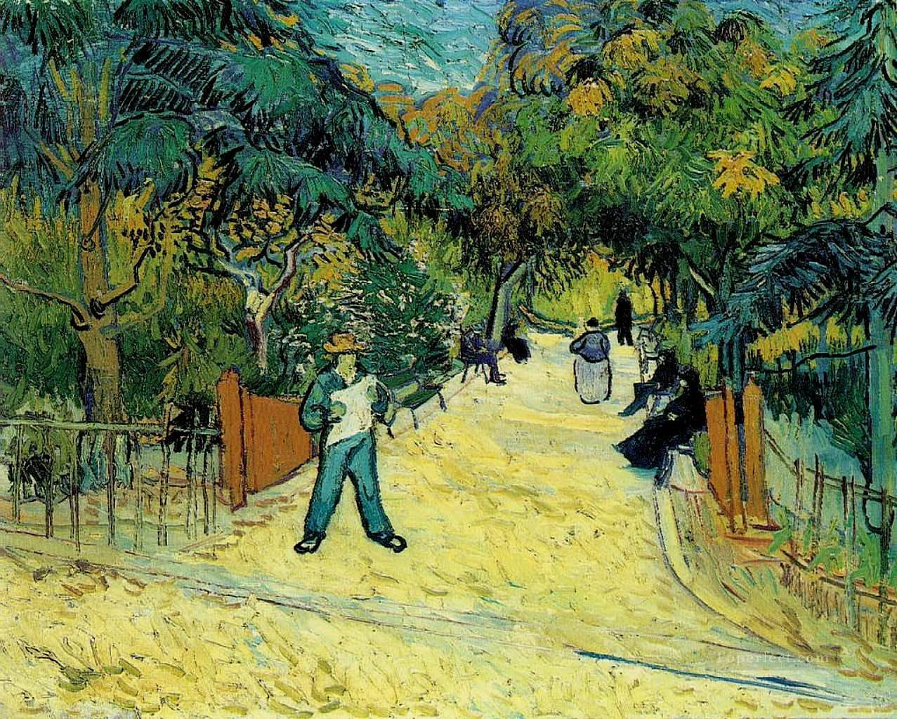 5 Entrance to the Public Garden in Arles Vincent van Gogh
