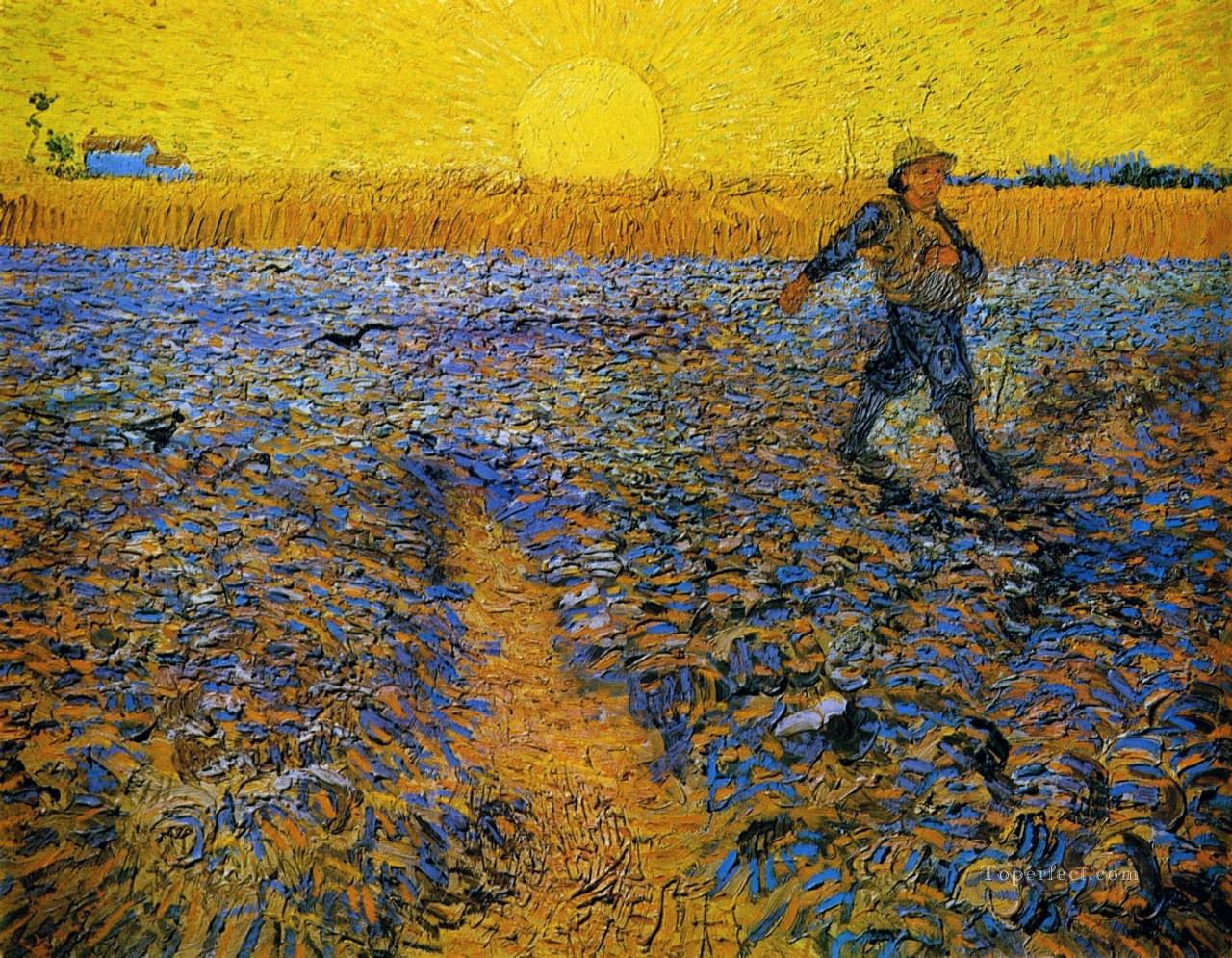 5 Sower with Setting Sun after Millet Vincent van Gogh