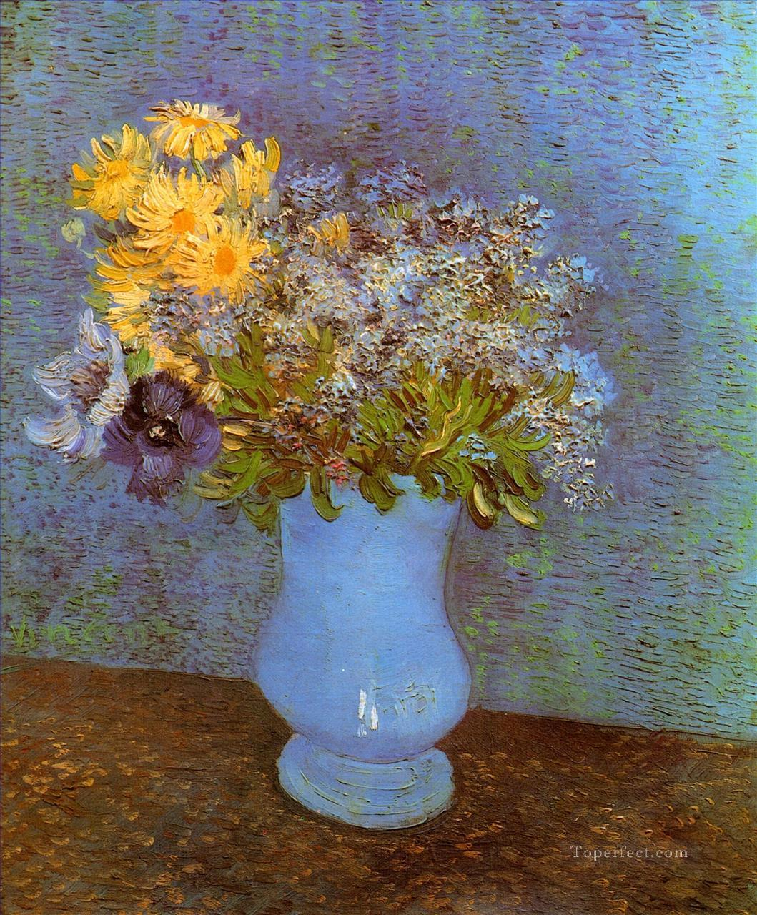 5 Vase with Lilacs Daisies and Anemones Vincent van Gogh
