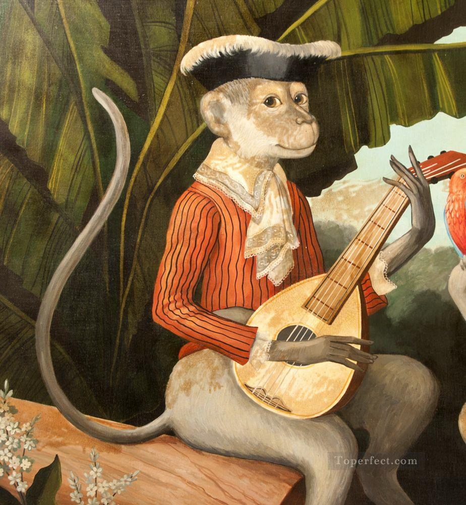 guitar wall decor.htm oil paintings of 4 monkey playing guitar art for sale by artists  oil paintings of 4 monkey playing